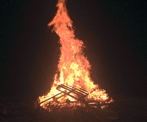 beautiful, bonfire, and country image