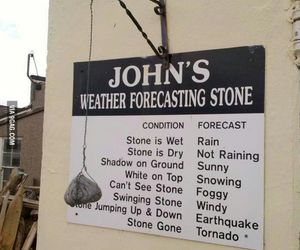 funny, weather, and stone image