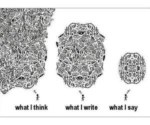 say, think, and write image