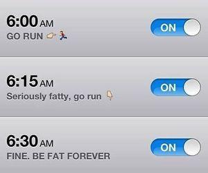 alarm, funny, and run image