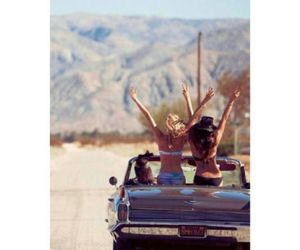 car, girl, and party image