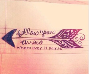 arrow, quote, and drawing image