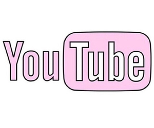 youtube, pink, and overlay image