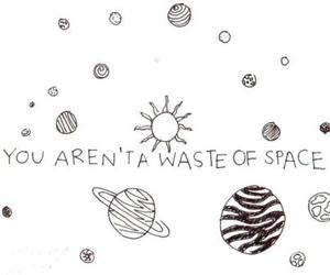 space, quote, and planet image