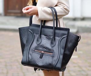bag, girl, and celine image