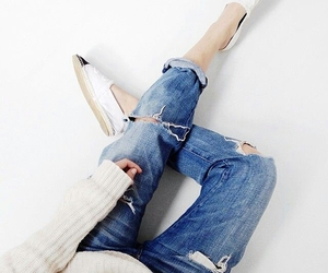 chanel, jeans, and style image