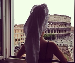 girl, rome, and italy image