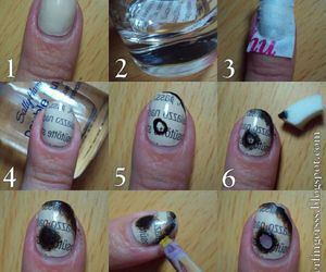 nails, tutorial, and polish nails image