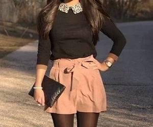 brunette, girl, and legs image