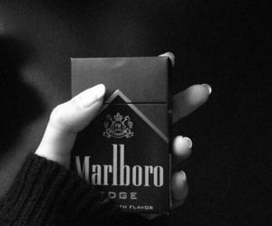 black, nails, and marlboro image