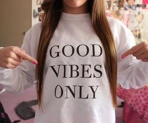 girl, good, and vibes image