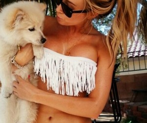 blond, dog, and sexy image