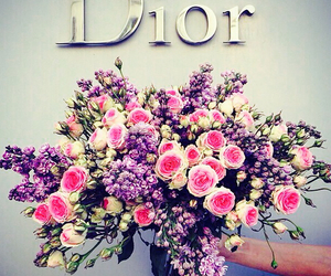 dior, flowers, and rose image