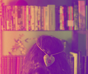 books, colors, and love image