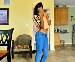 black girl, leopard print, and neon image