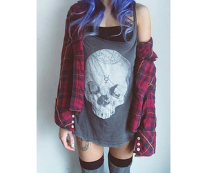 grunge, style, and blue image