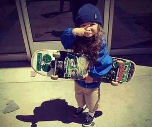 skate, baby, and skateboard image