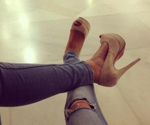 fashionable, high heels, and shoes image