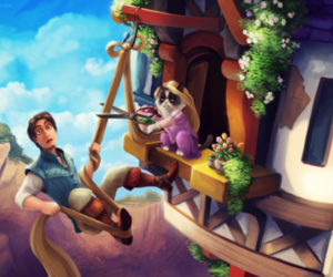 grumpy cat, disney, and rapunzel image