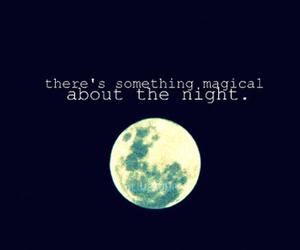night, moon, and magic image