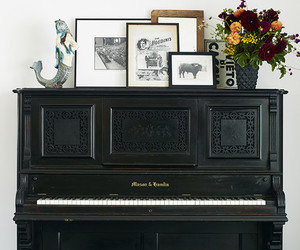 art, eclectic, and flowers image