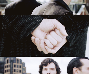 hand, scarf, and sherlock image