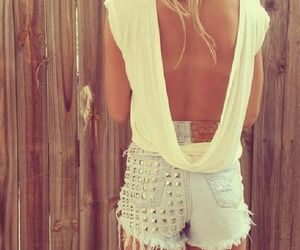 shorts, blondie, and summer image