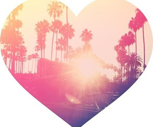 california, heart, and la image