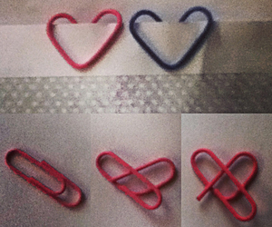 clips, diy, and heart image