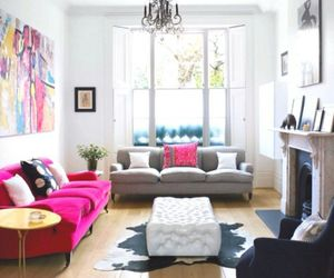living room, pink, and interior image