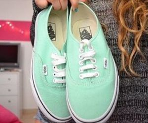 vans, girl, and green image