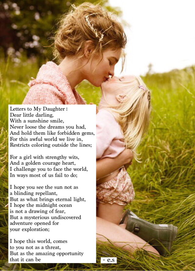 Letters to my Daughter shared by @trailofthebroken