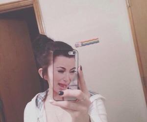 kim kardashian, funny, and selfie image