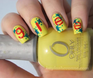 glee, nails, and style image