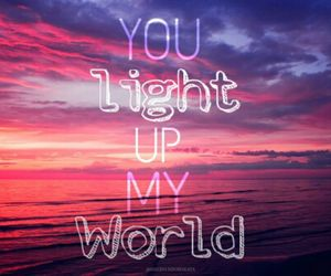 light, pink, and quotes image