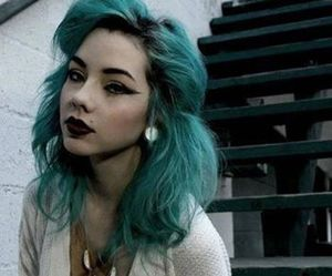 hair, blue hair, and grunge image