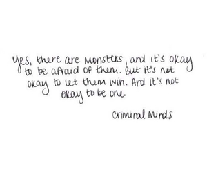 quote, criminal minds, and monster image