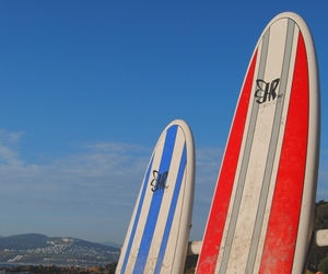 beach, surf, and chile image