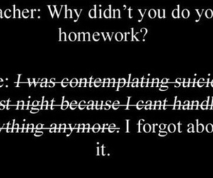 homework, sad, and school image