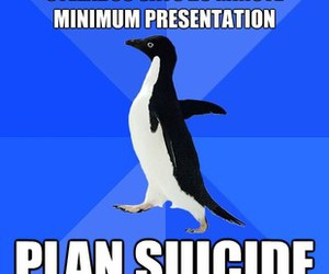 meme, penguin, and suicide image