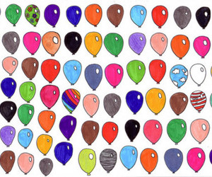 balloons, colors, and background image