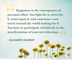 eat pray love, elizabeth gilbert, and happiness image