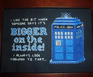 cross stitch, doctor who, and pixel art image