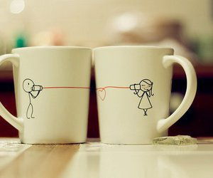 love, cup, and boy image