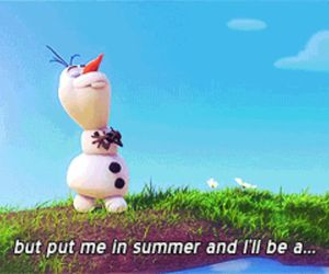 olaf, summer, and frozen image