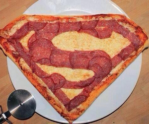 pizza, superman, and food image
