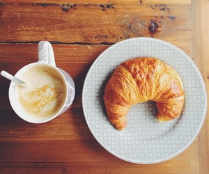 food, breakfast, and cappuccino image