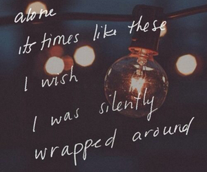 alone, quote, and 12am image