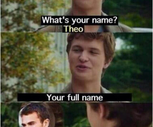augustus waters, divergent, and theo james image