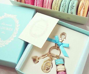 blue and macarons image